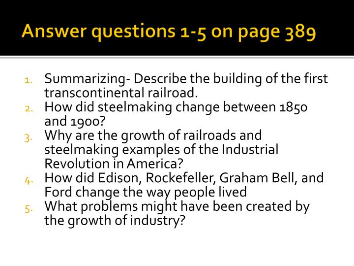 Answer questions 1-5 on page 389
