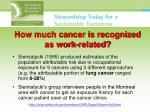 how much cancer is recognized as work related