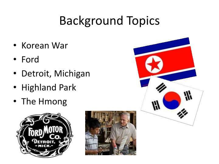 Background topics