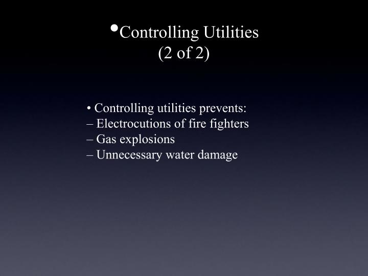 Controlling Utilities