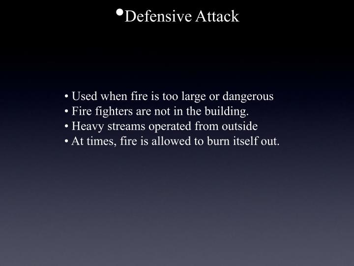 Defensive Attack