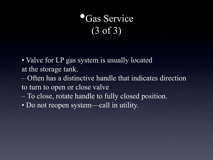 Gas Service