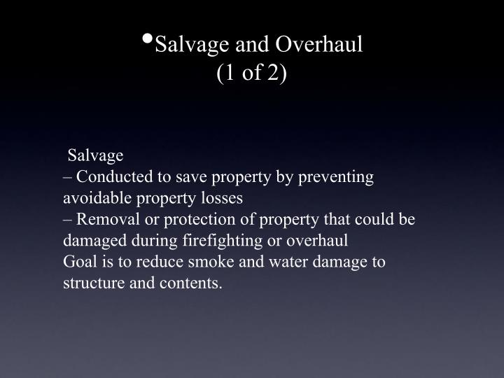 Salvage and Overhaul