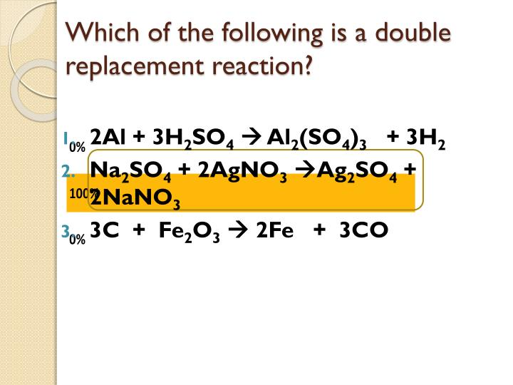 Which of the following is a double replacement reaction?