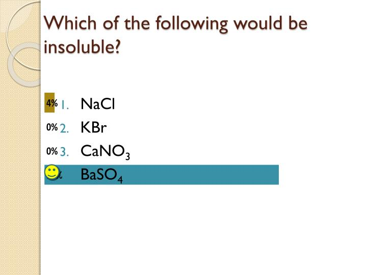 Which of the following would be insoluble?