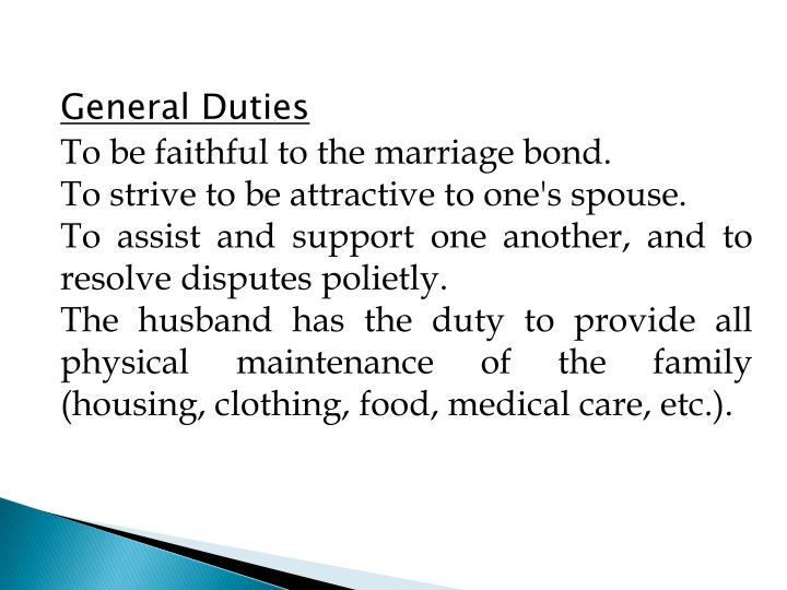 General Duties