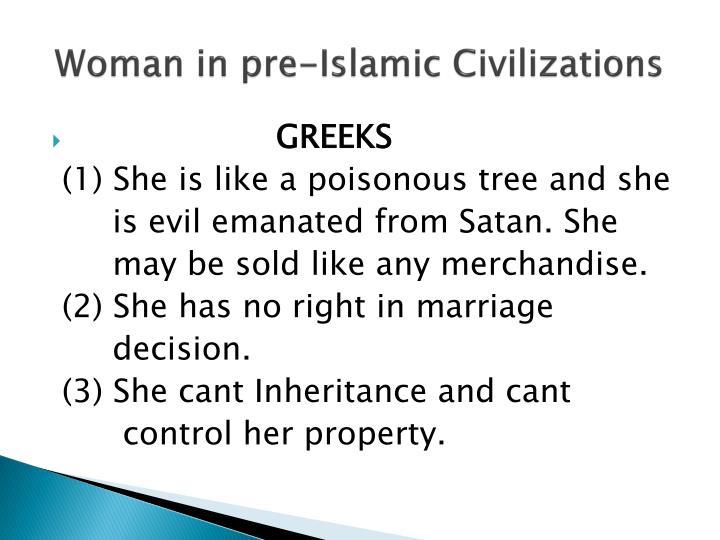 Woman in pre-Islamic Civilizations