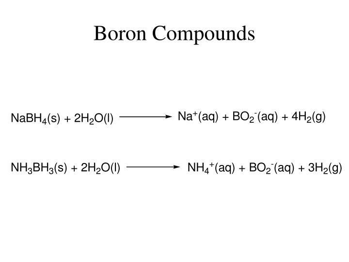 Boron Compounds