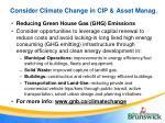 consider climate change in cip asset manag1