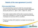details of the new agreement cont d5