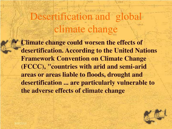 Desertification and  global climate change