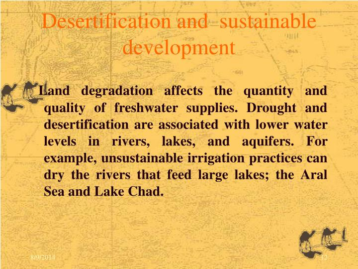 Desertification and  sustainable development