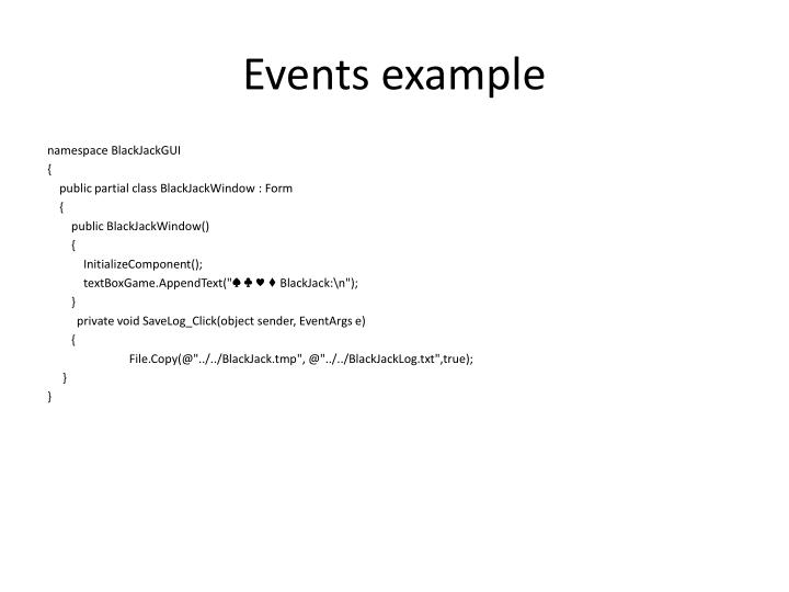 Events example