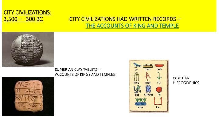 CITY CIVILIZATIONS: