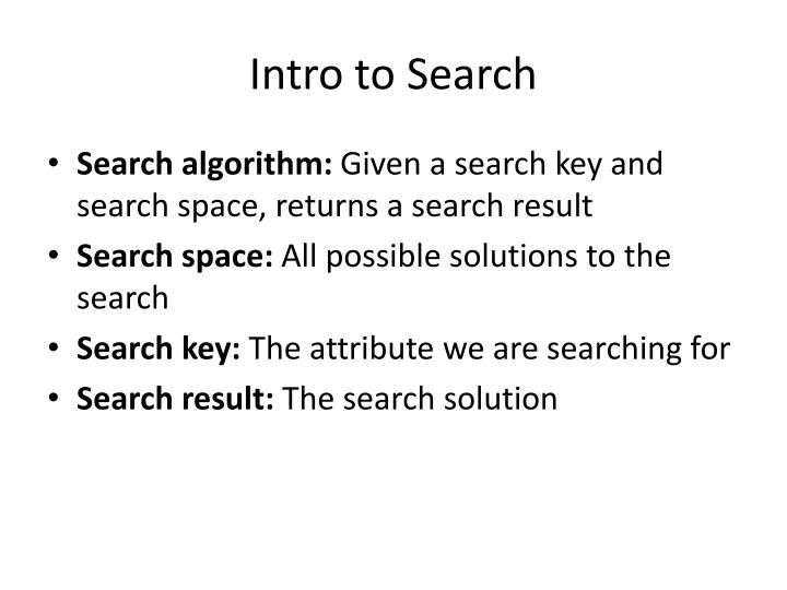 Intro to Search
