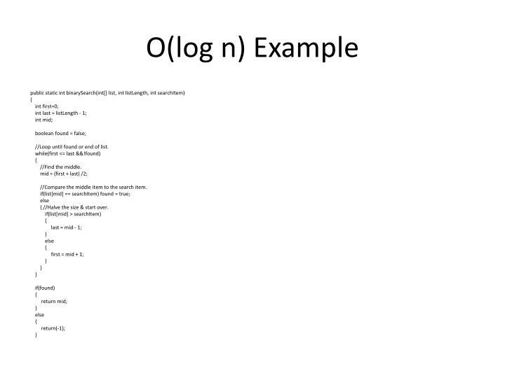 O(log
