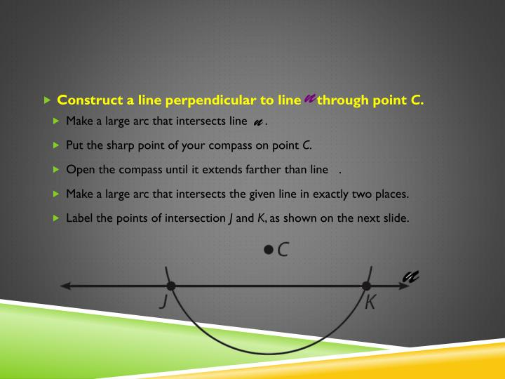 Construct a line perpendicular to line