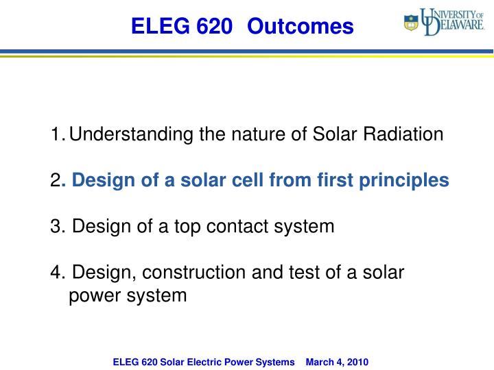 ELEG 620 Outcomes