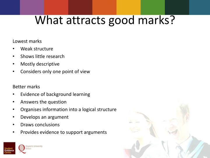 What attracts good marks
