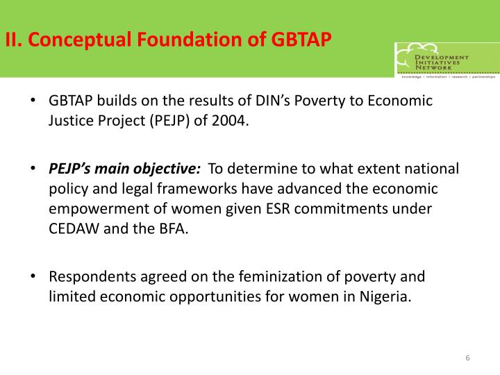 II. Conceptual Foundation of GBTAP