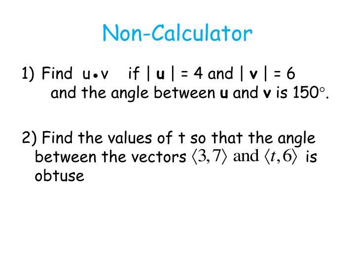 Non-Calculator