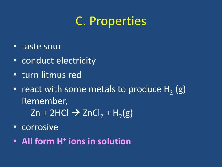 C. Properties