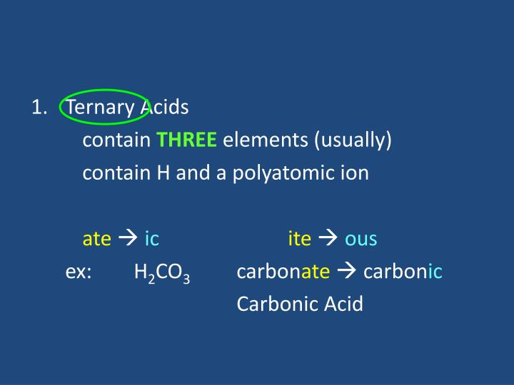 Ternary Acids