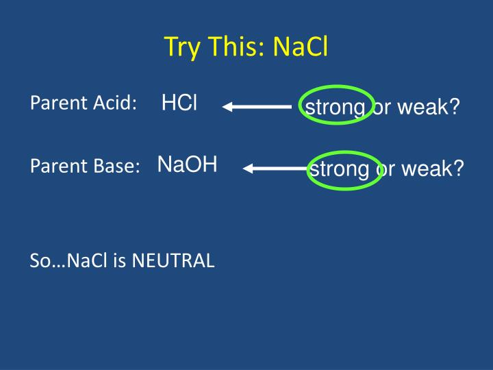 Try This: NaCl