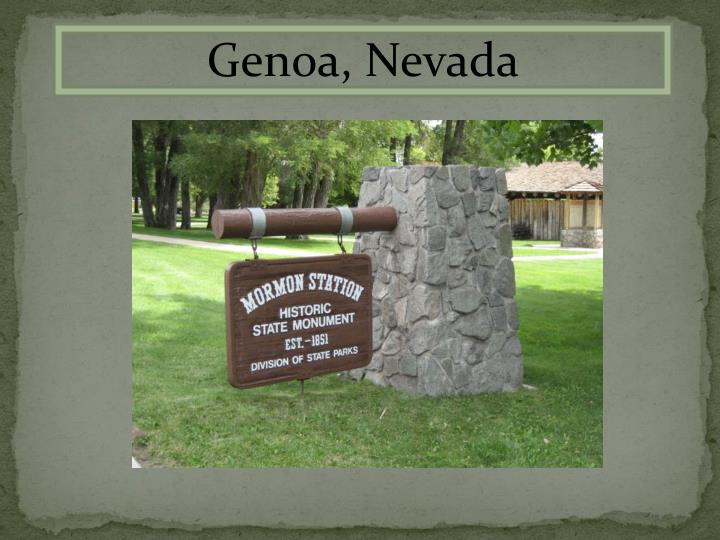 Genoa, Nevada
