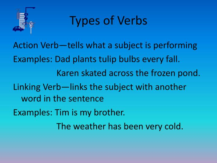 Types of Verbs