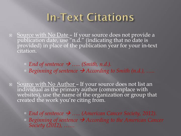 In-Text Citations