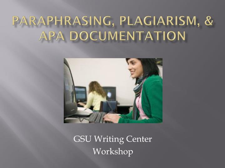Paraphrasing plagiarism apa documentation