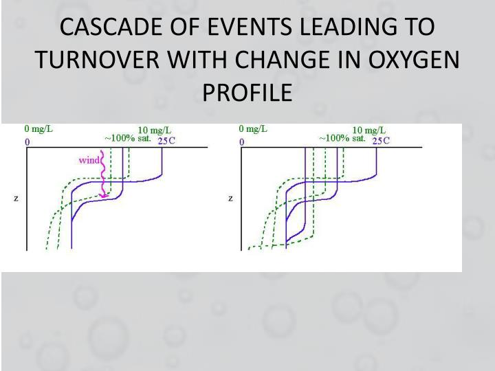 CASCADE OF EVENTS LEADING TO TURNOVER WITH CHANGE IN OXYGEN PROFILE