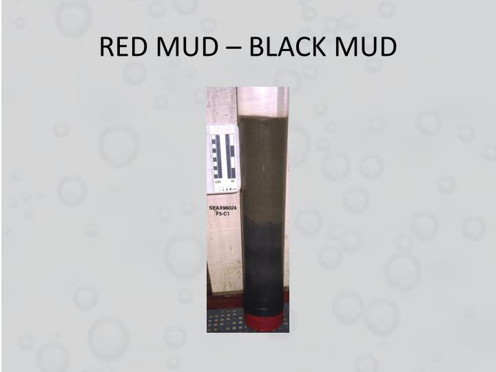 RED MUD – BLACK MUD