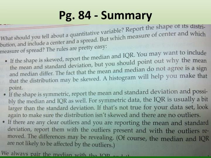 Pg. 84 - Summary