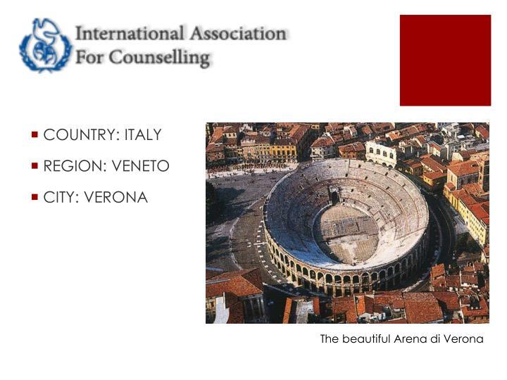 The beautiful Arena di Verona
