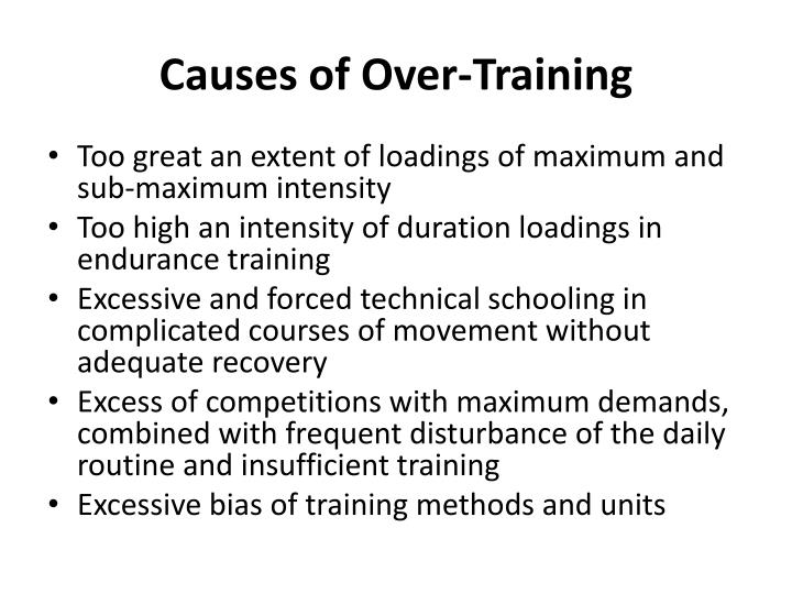 Causes of Over-Training