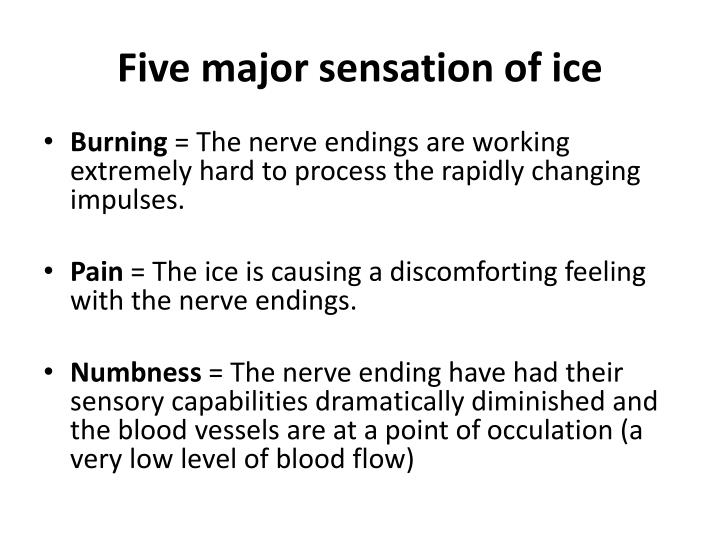 Five major sensation of ice