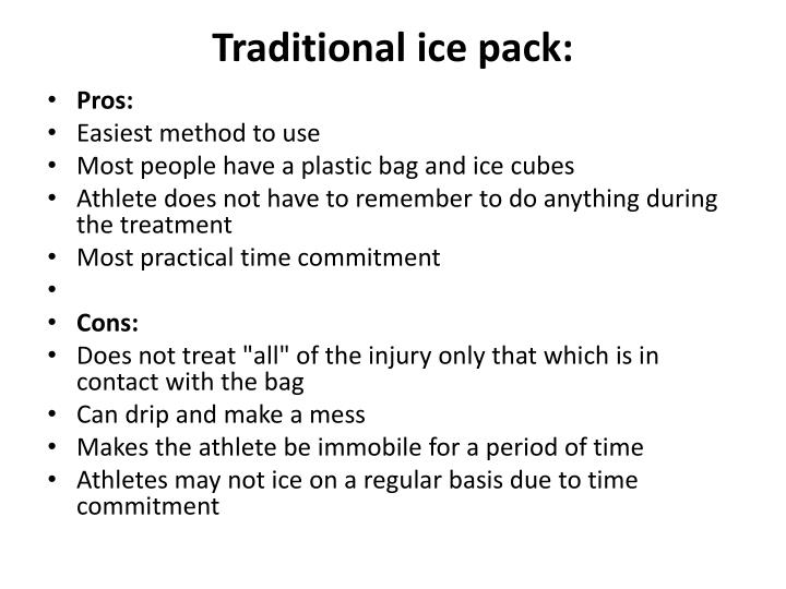 Traditional ice pack: