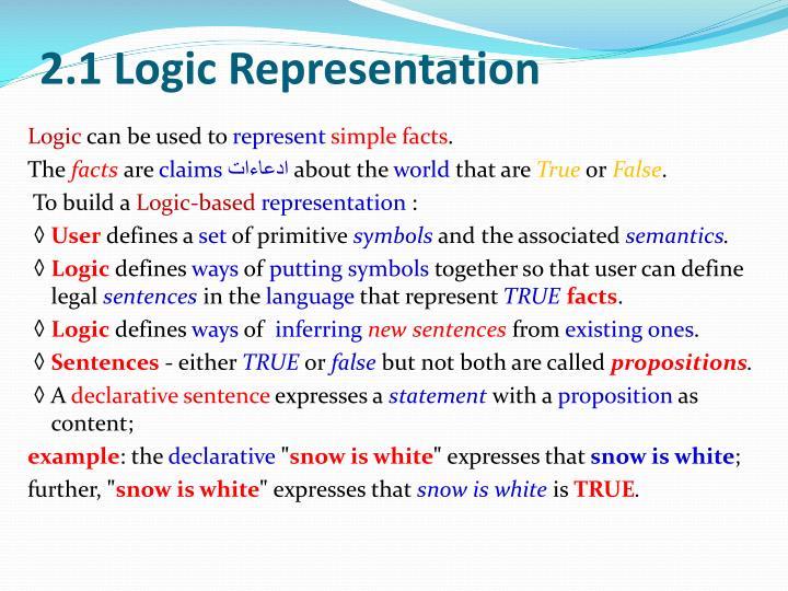 2.1 Logic Representation