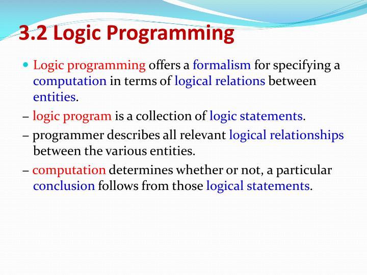 3.2 Logic Programming