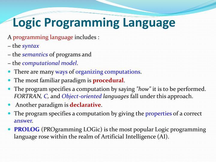 Logic Programming Language