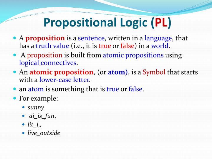 Propositional Logic (