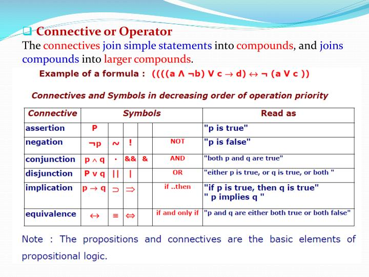 Connective or Operator