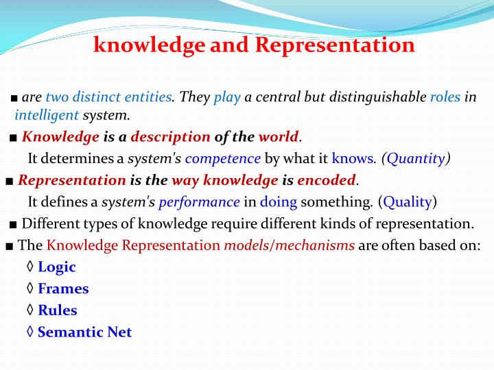 knowledge and