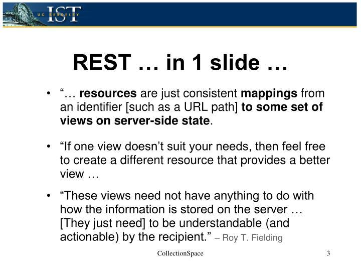 REST … in 1 slide …