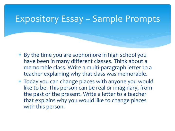 Expository Essay – Sample