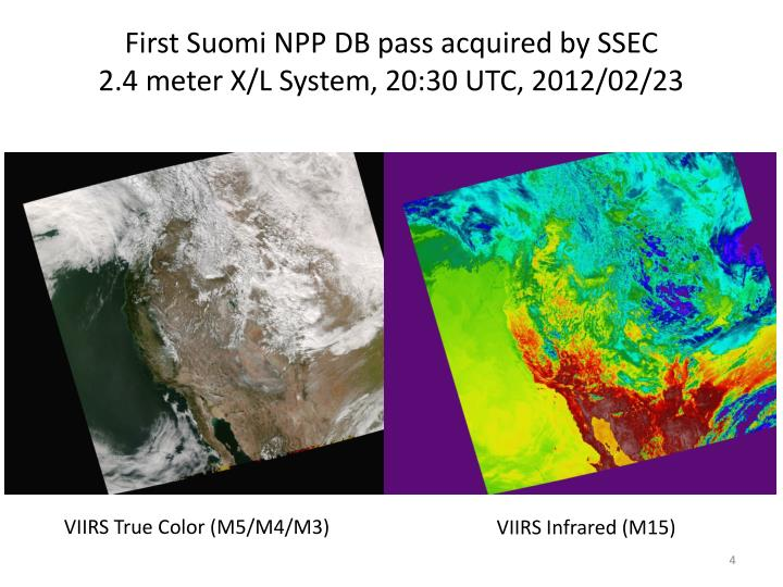 First Suomi NPP DB pass acquired by SSEC