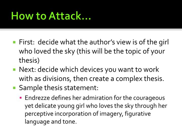 How to Attack…
