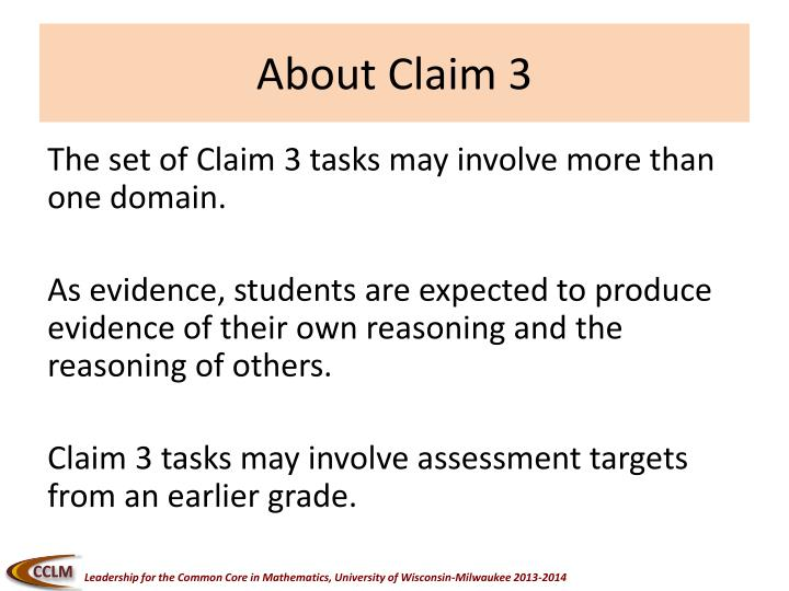 About Claim 3